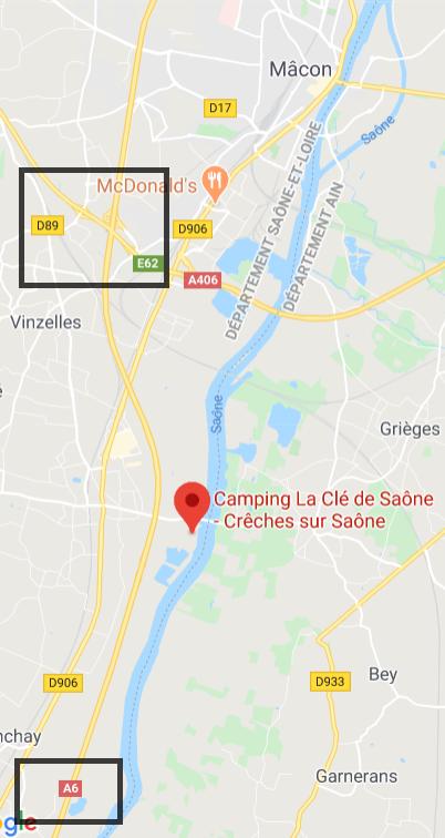 Camping La Clé de Saône ; 70Km bis LYON,Frankreich