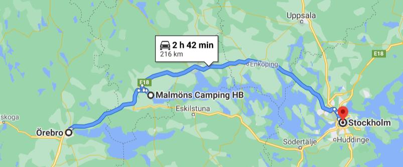 Malmöns Camping,Köping, Örebro;Schweden