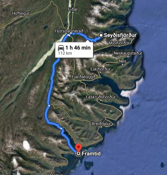 Framtid Camping Lodging; Djúpivogur; (Ost)Island