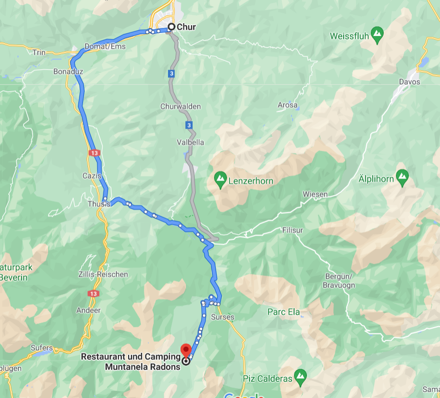 Muntanela Radons, Chur;Schweiz